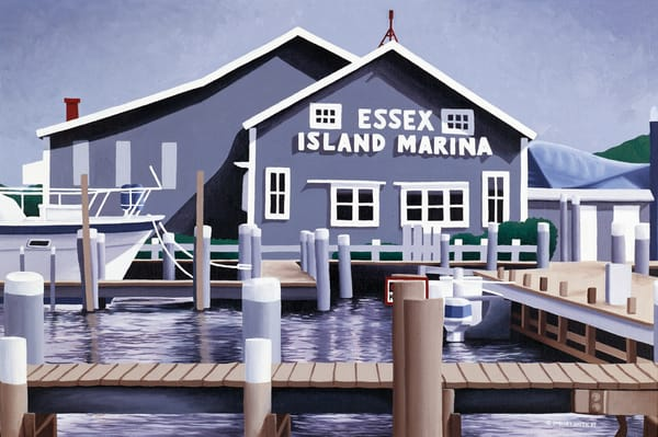 Essex Island Marina | Fine Art Prints & Notecards of Original Oil Painting