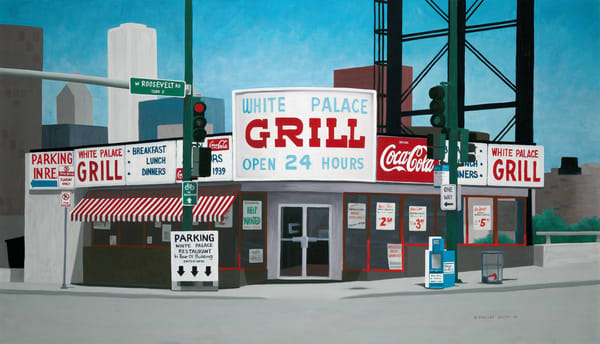 The White Palace Grill | Fine Art Print of Oil Painting