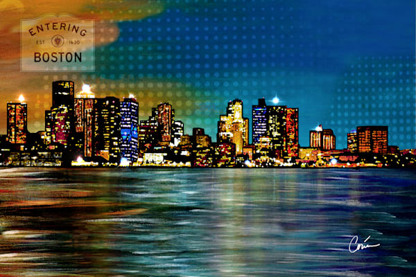 Corina Bakke's Cityscape, Boston Skyline