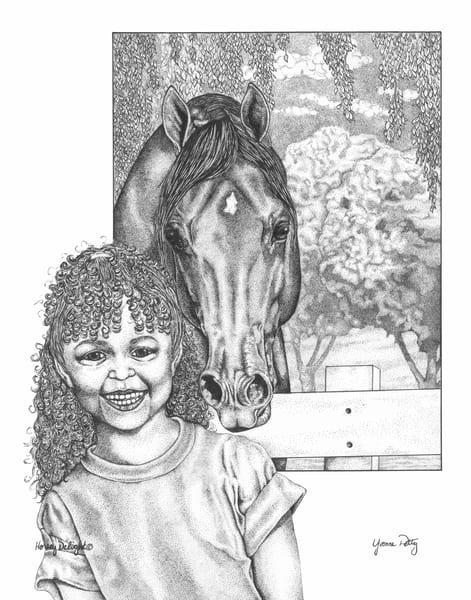 Horsey Delight Art | Yvonne Petty Artist