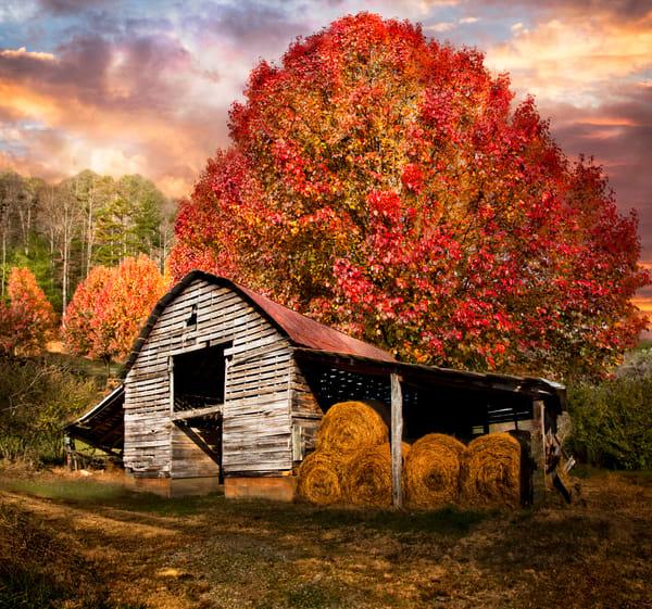 Autumn Hay Barn