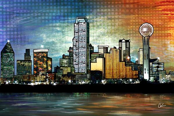 Bright image of Dallas, Texas as a Cityscape
