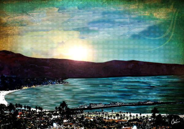 Santa Barbara Skyline Cityscape