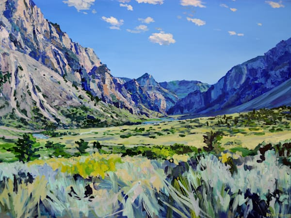 Clarks Fork Canyon Painting