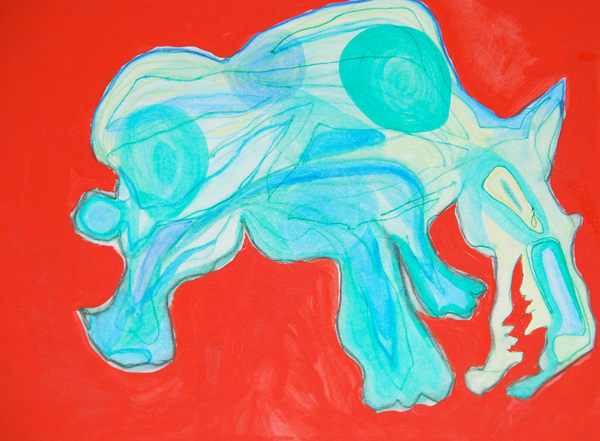 Sumi Rhino Art | Pam White Art