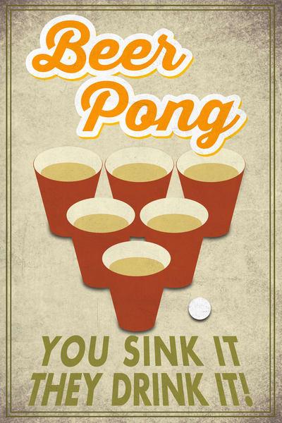 Beer Pong Art | blacksgallery.ca