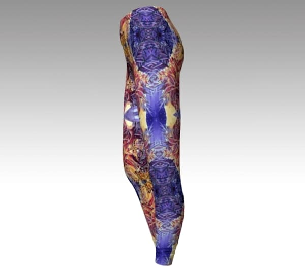 Purple Orbital Fine Art Leggings