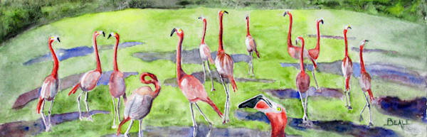 Pink Flamingos Art | David Beale