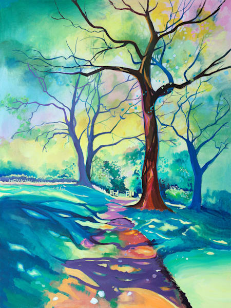 Colourful Fine Art  Woodland Print