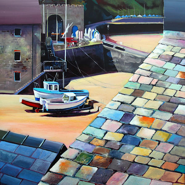 Tenby harbour paintings and prints