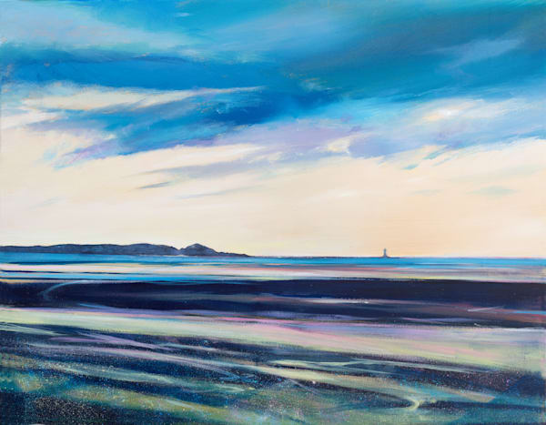 Whiteford Lighthouse from Machynys art print
