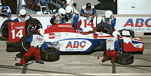 AJ Foyt Indy Racing | Milwaukee Mile | Wisconsin Limited Edition Prints of Painting