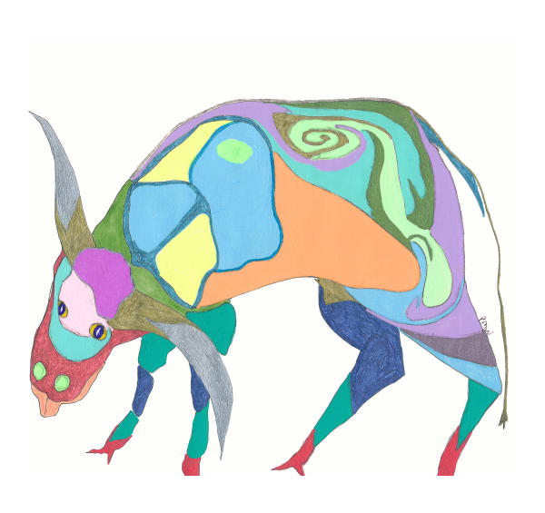 Ruby Cow Art | Pam White Art