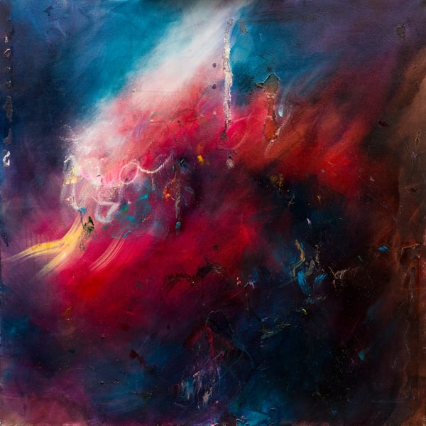 The Uproar - Contemporary Abstract Ocean Painting | Samantha Kaplan