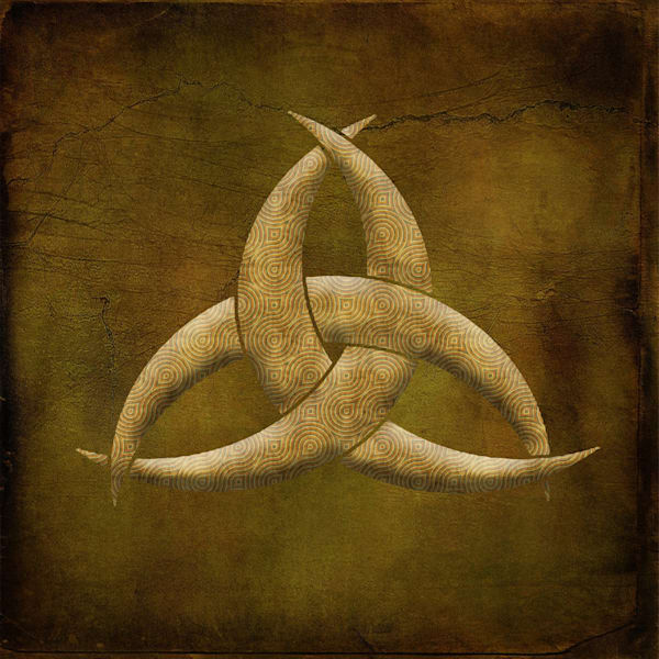 Earthen Celtic Triquetra Symbol Art paintings for sale | Grimalkin Studio