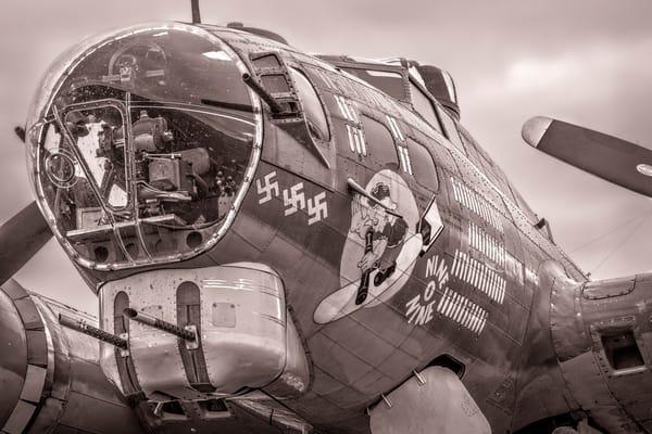 B-17 Flying Fortress Historic Warplane Warm Tone fleblanc