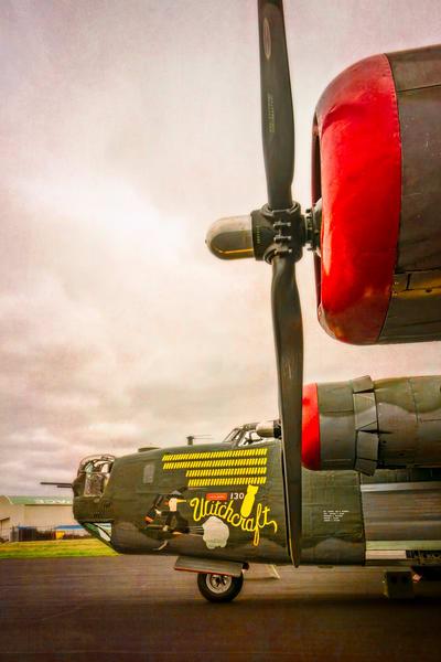B-24 WW2 War Liberator Witchcraft Warplane classic fleblanc