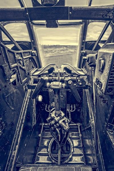 B-24 WW2 Witchcraft Warplane Allied Monochrome fleblanc