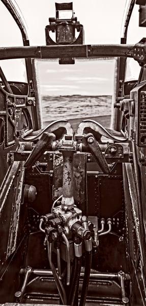 B-24 WW2 Witchcraft Warplane USAF Monochrome fleblanc