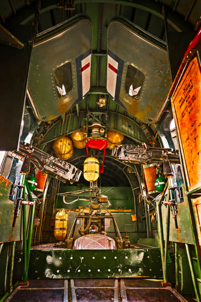 B-24 WW2 War Bomber Witchcraft interior veteran fleblanc