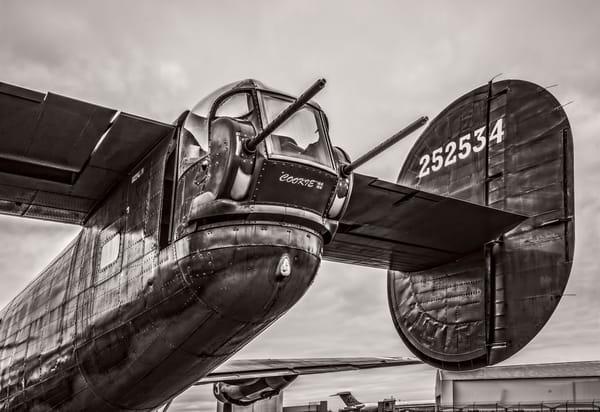 B-24 WW2 War Liberator Witchcraft USAF Monochrome fleblanc