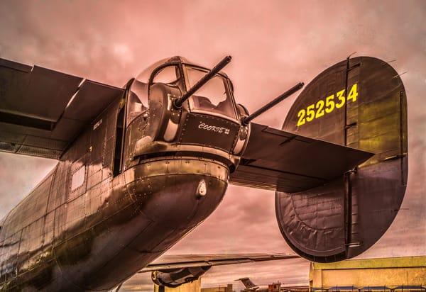 B-24 WW2 Liberator Witchcraft Restored Monochrome fleblanc