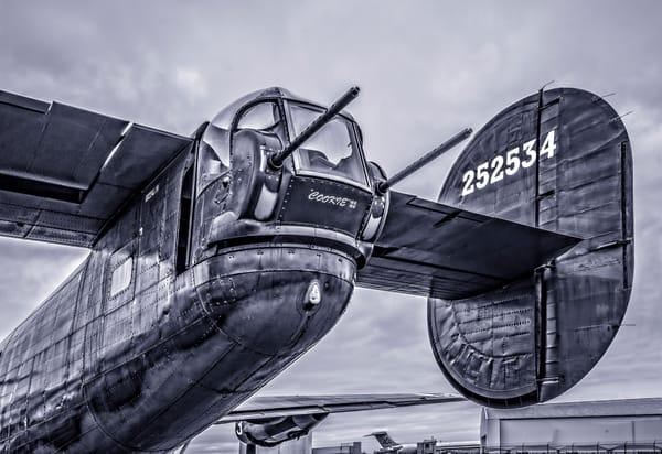 B-24 WW2 Liberator Witchcraft Allied Monochrome fleblanc