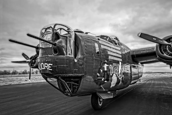 B-24 WW2 War Liberator Witchcraft Monochrome fleblanc
