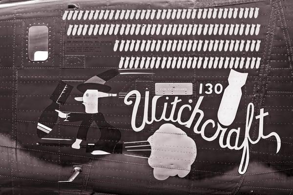 B-24 WW2 Witchcraft Aircraft warbird Monochrome fleblanc