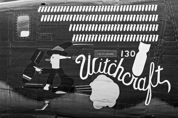 B-24 WW2 Witchcraft Aircraft classic Monochrome fleblanc