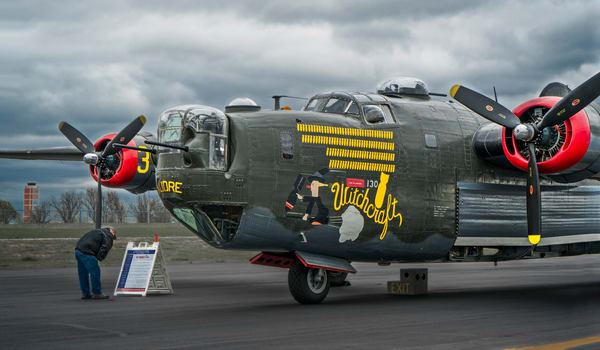 B-24 WW2 War Bomber Witchcraft combat Vintage fleblanc