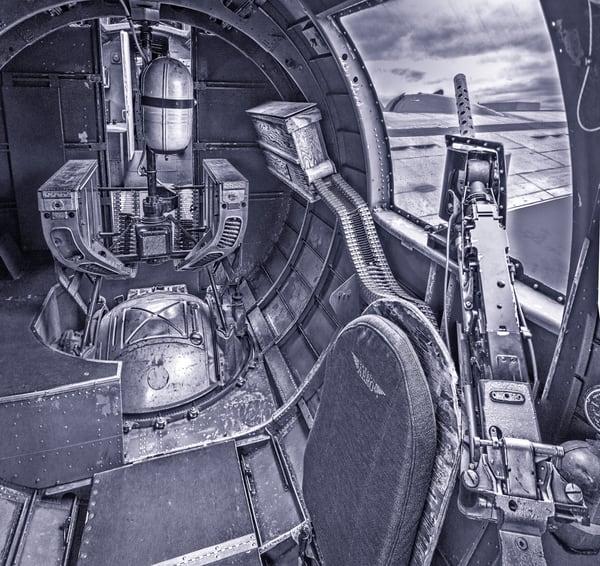 B-24 WW2 Witchcraft Aircraft Warplane Monochrome fleblanc