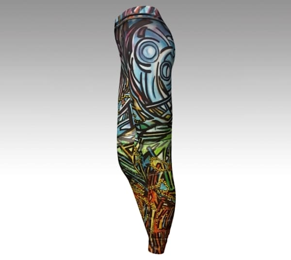 BMBW sky blue Fine Art leggings
