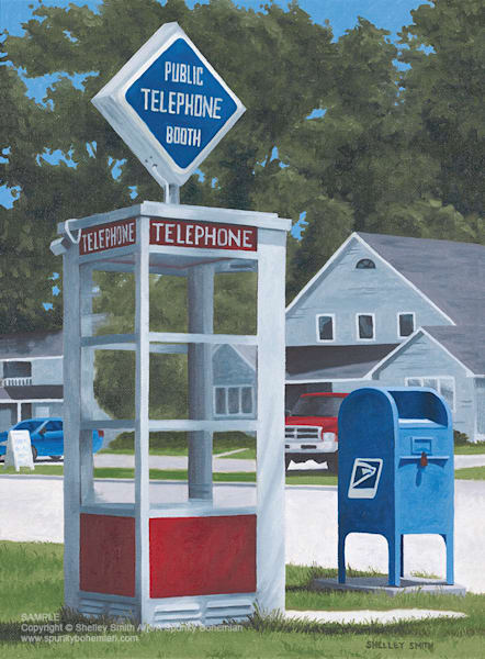 Phone Booth | Mailbox | Door County Wisconsin | Art Prints of  Original Painting