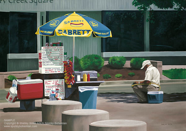 Denver | Hot Dog Stand | Original Painting & Art Prints