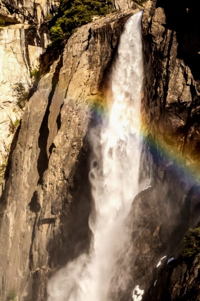 Rainbow Over Lower Yosemite Falls Photograph For Sale As Fine Art