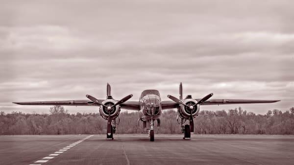 B-25 Mitchell Restored Tondelayo Sepia Combat Ready fleblanc