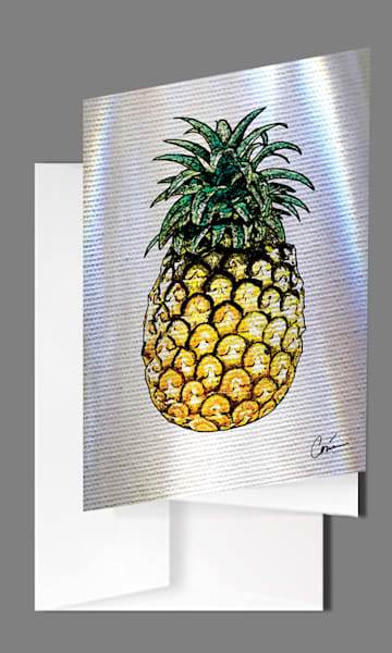 Pineapple Greeting Cards - Set of 5
