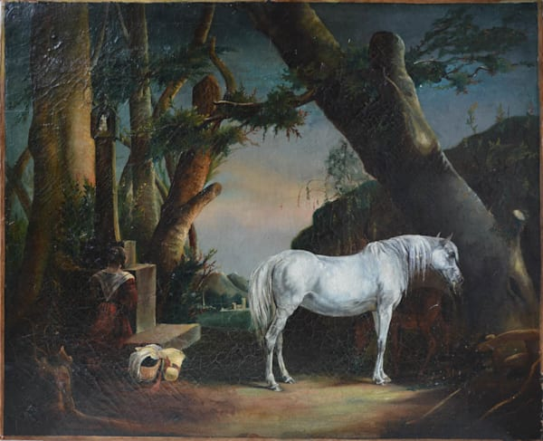 In the Forest (Woman and Horse)