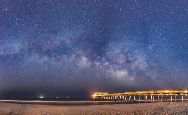 Tybee Pier Milky Way Panorama