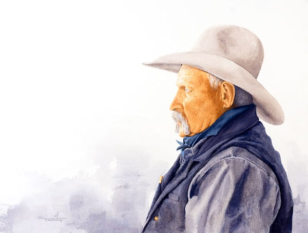 Raymond Wattenhofer Cowboy Art Watercolor Paintings