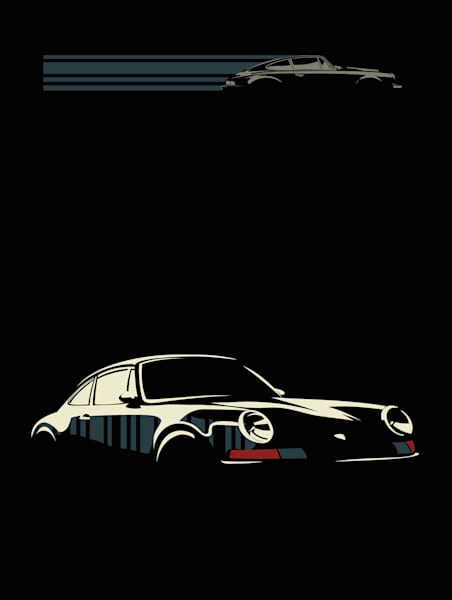 Retro classic car art by Sassan Filsoof available for purchase.