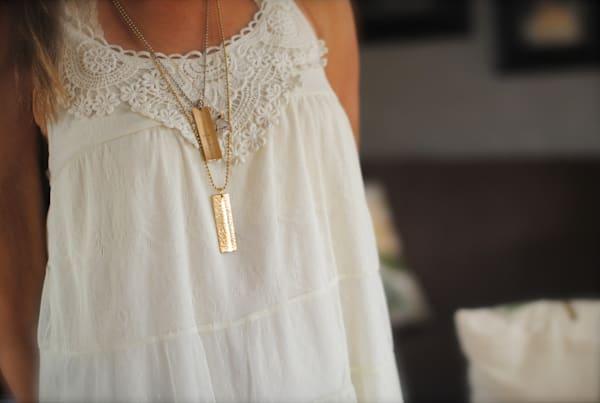 Best Friend Hand Stamped Necklace