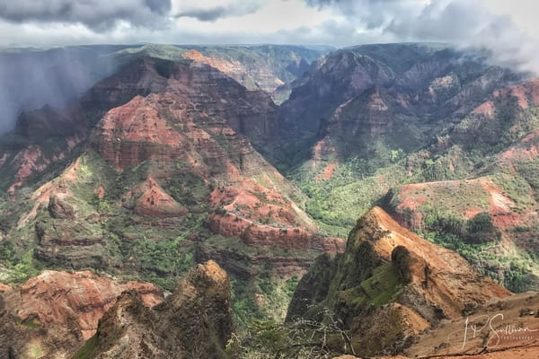 Kauai Waimea Canyon Hawaii - JP Sullivan Art Prints - Photography