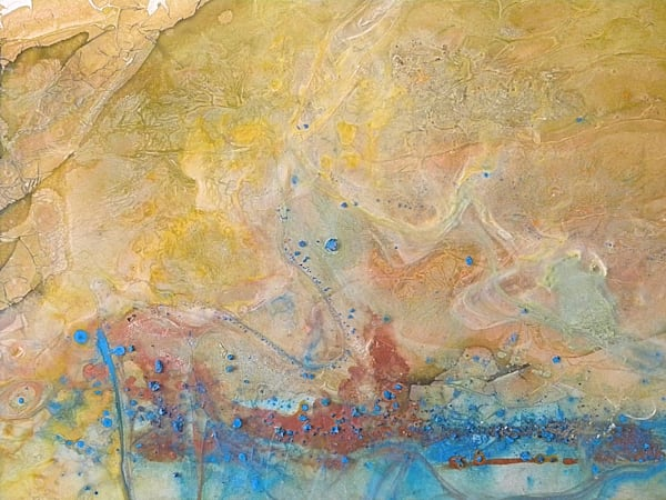 "Earth Art - ""Terra Flow"" abstract landscape painting by Sarah Hanson"