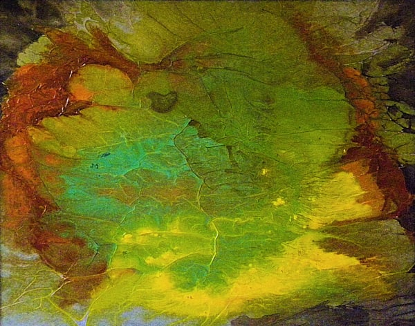 "Earth Art - ""Prismatic Abyss"" abstract landscape painting by Sarah Hanson"