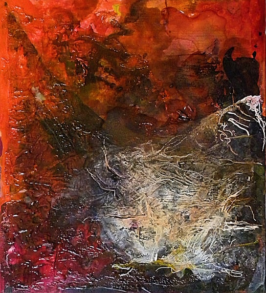 "Earth Art - ""Under The Crust"" abstract landscape painting by Sarah Hanson"