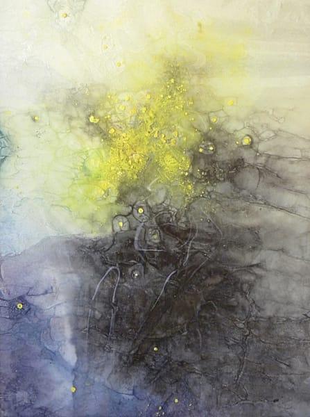 "Space Art - ""Sangre De La Estrellas"" abstract painting by Sarah Hanson"