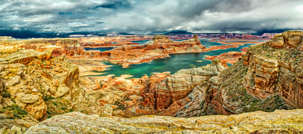 Alstrom Point Lake Powell Panoramic Photograph - Wall Art