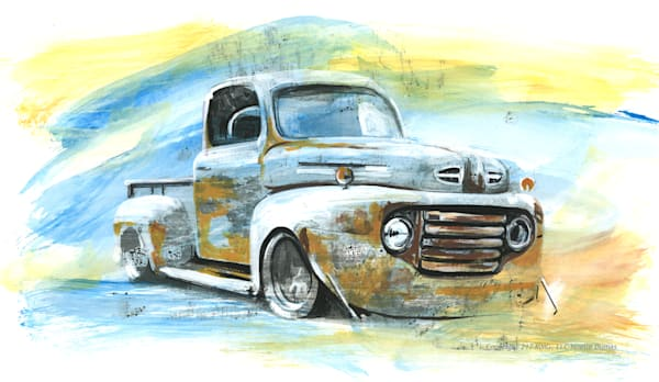 1948 Ford pickup rusted truck
